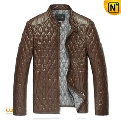 Men's Embroidery Sheepskin Quilted Leather Jacket CW821001 - Valentine's Day Gift $558.89