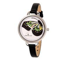 Reloj con caja de ACERO e imagen de mariposa. - Cristian Lay www.cristianlay.com