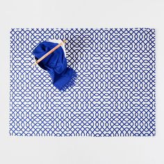 Blue printed cotton rug - RUGS - DECORATION - New Collection | Zara Home United States of America