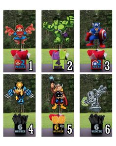 SUPER HERO SQUAD Birthday Party Centerpiece - 3 feet tall Superhero Heroes thor favors Mitzvah baby shower 1st birthday centerpieces