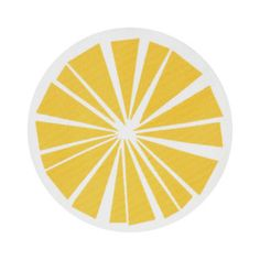 Citrus Rug Ø80 Yellow, £13, now featured on Fab.
