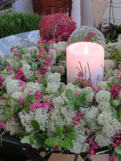 Arte Floral, Nature Decor, How To Make Wreaths, Natural Materials, Pillar Candles, Container Gardening, Greenery, Outdoor Living, Leaves