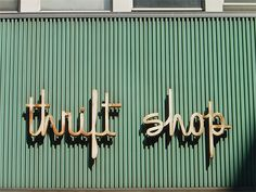 thrift shop store signage