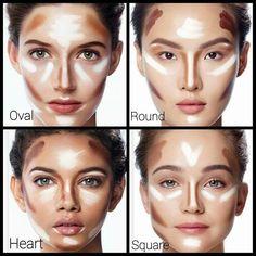 Contouring #BeautyTipsTeens Best Contouring Products, Makeup Contouring, Makeup 101, Highlighter Makeup, Contouring And Highlighting, Makeup Inspo, Eye Makeup, Hair Makeup, Contour Face