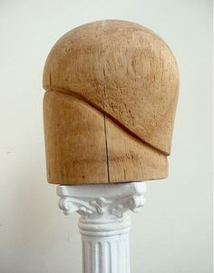 Vintage Hat Block Flapper Cloche Milliner's Form from artsfarmstudio on Ruby Lane