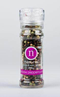 Rainbow peppercorns grinder