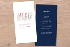 menu de mariage eden by Petite Alma pour www.rosemood.fr #wedding #weddingtable #flowers