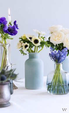 This frosted blue bottle is a versatile decorative element that will complement a range of wedding styles. Whether filled with flowers or used on its own it will be a lovely addition to any décor. Combine with other sizes and styles of bottles to enhance your table top displays.
