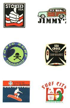 Vintage Surf Logos