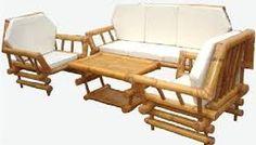 30 Bamboo Sofa Design Ideas For Outdoor Furniture - Bamboo Sofa, Bamboo Table, Bamboo House, Bamboo Furniture, Table Furniture, Furniture Making, Outdoor Furniture Sets, Furniture Design, Furniture Ideas