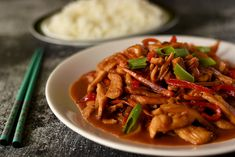 China Food, Shrimp Recipes For Dinner, Asian Recipes, Ethnic Recipes, Japchae, Thai Red Curry, Food And Drink, Cooking Recipes, Chinese