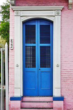 Blue Front Door New Orleans