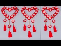 Today i will make an amazing Door Hanging Colorful Toran at home.So guys watch this tutorial and make it at home. Newspaper Wall, Newspaper Crafts, Door Hanging Decorations, Woolen Craft, Creative Art, Reuse, Wind Chimes, Lana, Easy Diy