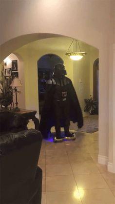 "Vader on a ""hoverboard"" | Darth Vader on a self-balancing skateboard | faceplant"