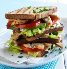 Get inspired and try this delicious New York Chicken Club Sandwich Recipe, using Quorn Meatless Chicken Cutlets. Enjoy meatless alternatives with Quorn. Veggie Recipes, Vegetarian Recipes, Healthy Recipes, Uk Recipes, Veggie Food, Quorn Chicken, Chicken Club, New York Chicken, Fried Chicken Burger