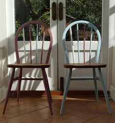 Ercol Windsor Chairs by RestoredbyLiat on Etsy Ercol Chair, Ercol Furniture, Retro Furniture, Furniture Projects, Painted Furniture, Armchair, Apartment Living, Apartment Ideas, Painted Dining Chairs