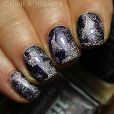 Stamper marbling / smooshy nails with Picture Polish Lizzie and A England Polovetsian Dances