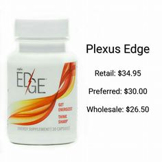 EDGE - affordable, all natural energy sourceshopmyplexus.com/kristinadelange FB page: Plexus PINKristina