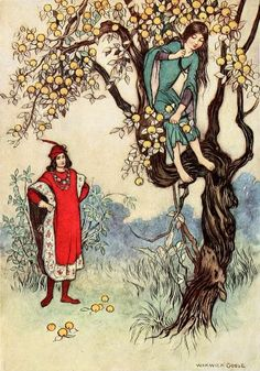 pequeño ojo-The fairy book the best popular fairy stories -Goble Warwick 1913 Autumn Illustration, Children's Book Illustration, Book Illustrations, Free Pictures, Free Images, Warwick Goble, Story Elements, Fairytale Art, Old Antiques