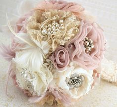 Idea! Blush brooch bouquet.