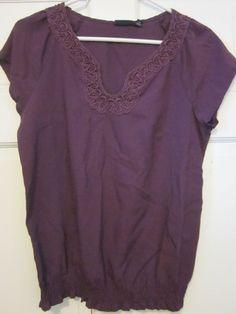 A.N.A Dark Purple Medium Top $6.99