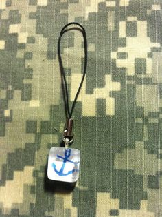 $5 glass tile (1/2 inch) glass tile cell phone charm