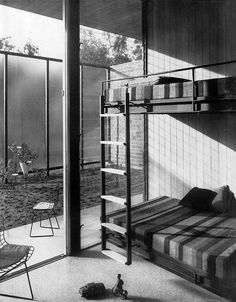 """Case Study House #17-2 / Hoffman House / Craig Ellwood / 1956 / 9554 Hidden Valley Road, Beverly Hills / remodeled beyond recognition in 1962 by John Elgin Woolf """"To attempt the transformation of the Case Study House No. 17 into a Greek temple with a Hollywood Regency street façade requires the most profound disregard of traditional notions of architectural integrity."""""""