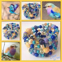 Chirp! Moderne, mooie zelfgemaakte armbanden, glas parels, glas kralen , Memory wire, http://some-accessoires.nl