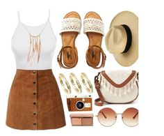"""""""LE3NO"""" by monmondefou ❤ liked on Polyvore featuring Topshop, LE3NO, T-shirt & Jeans, Charlotte Tilbury, Aéropostale and LØMO"""