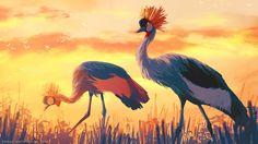 Big birds, Sylvain Sarrailh on ArtStation at https://www.artstation.com/artwork/big-birds