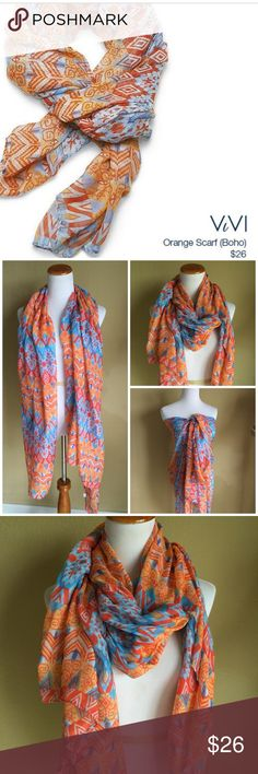 Vibrant colored Scarf/Wrap Large scarf/wrap by Vivi in 100% Viscose can be worn many ways as illustrated Vivi Accessories Scarves & Wraps