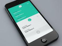 Fantasy Leagues App | Mobile App UI Design