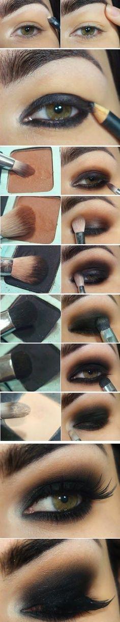 Super Famous Black Smokey Eye Makeup Tutorials