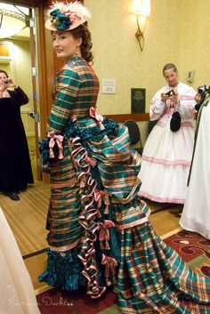 A Victorian vintage of dress- bustle gown by Lauren of Wearing History on the American Duchess:Historical Costuming blog