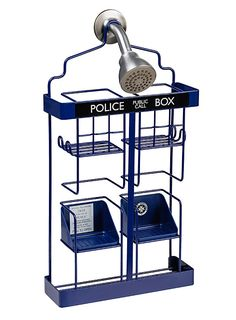 Doctor Who TARDIS Shower Rack from ThinkGeek
