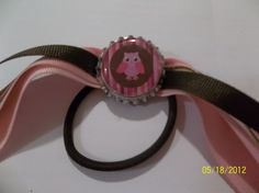 Owl Ponytail with Bottle Cap by ang744 on Etsy, $5.00