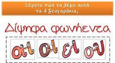 Σχετική εικόνα First Grade, Grade 1, Greek Language, Greek Alphabet, Grammar, Clip Art, Classroom, Education, Learning