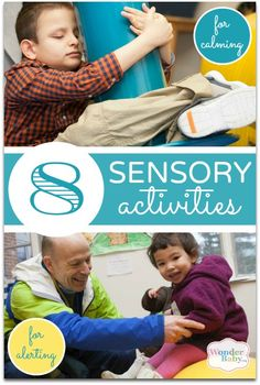 A list of sensory activities along with ways to make them more calming or more alerting and information about which sensory system they target. Try them out and see which work for your child!