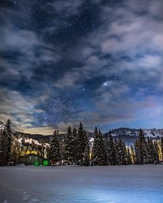 On instagram by lifeofbrys #astrophotography #contratahotel (o) http://ift.tt/21oEfbs snow and starlit clouds - Utah's picture-perfect fairytale nights   Canon 5DM3 Rokinon 24 mm (f/1.4 at F/2.0) lens 20 second exposure ISO1600  ___________________________________________________________ Brighton Utah    #utah #milkyway #landscape #mountains #wild #wanderlust #capturethemoment #travel #nature #astronomy #teamcanon #space #geology #neverstopexploring #ski #nightscape #universe #stars #geology…