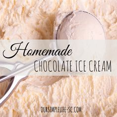Old Fashion Homemade Chocolate Ice Cream - With three grandchildren around, I am all about making memories for them! One of those memories is Grandma's old fashion homemade chocolate ice cream! http://oursimplehomestead.com #icecream