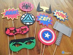 Photo Props: The Marvel Super Hero Set 10 Pieces by BabyBinkz