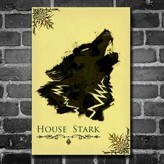 Game of Thrones poster movie poster minimalist poster by Harshness #GoT #stark #wolf #asoiaf