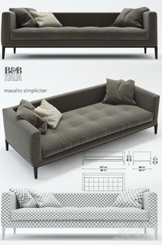 b&b italia maxalto simpliciter, диван: