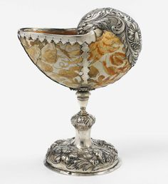 Silver mounted nautilus cup, 1700. Presumably Netherlands. Via Lempertz