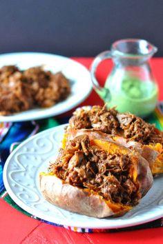 Slow Cooker BBQ Jackfruit Stuffed Sweet Potatoes - GoodHousekeeping.com