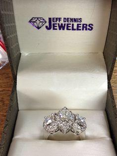 Customer Remount Using All Of Their Diamonds