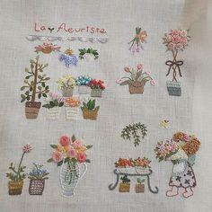 자.수.나.무. 이곳에 오시는 분들은 색감들이 점.. 점.. 저와 닮아 갑니다~^^  미술학원원장님 솜씨~ #자수나무 #프랑스자수  #embroidery
