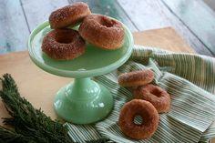 homemade cinnamon sugar baked donuts