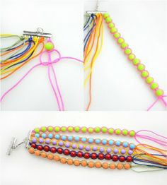 Diy-bangles-tutorials-how-to-make-bangle-bracelets-out-of-string-and-beads-step2