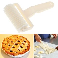Larg Pastry Cutter Dough Roller Knife Lattice Cutter Pasta Tool Cookie Pie Pizza Bread Pastry Lattice Roller Cutter